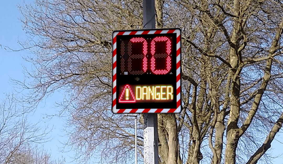 More color options for the I-SAFE 2 speed sign display